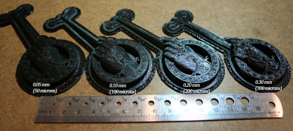 3D print resolution comparison